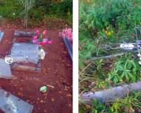 Вандалы разгромили могилы на кладбище в Смоленской области