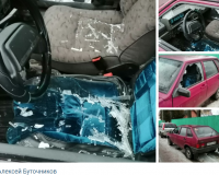 Неизвестные хулиганы разбили стекло отечественной легковушки