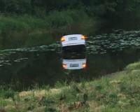 В Смоленский области утонула иномарка