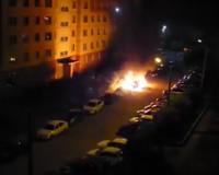 Ночью в областном центре сгорела иномарка (видео)