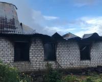 Фото: В Смоленском районе сгорел жилой дом