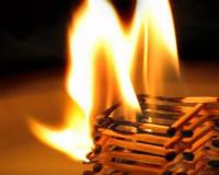 В Глинковском районе произошел пожар