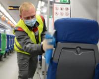 На ж/д вокзале Смоленска продолжают проводить регулярную дезинфекцию