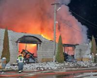 В Смоленском районе произошел крупный пожар