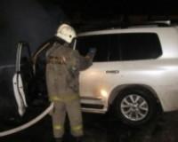 В Смоленской области сгорел дорогостоящий внедорожник