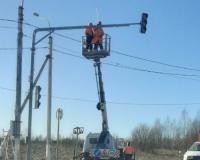 На окружной дороге в Смоленске установили новый светофор