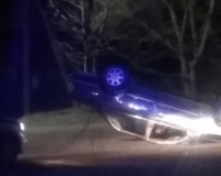 В Смоленской области перевернулся автомобиль