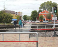 В Смоленске закончили ремонт пешеходного перехода через ж/д пути