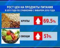 Росстат опубликовал данные по изменению стоимости на продукты питания за прошедший год