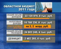 Областной бюджет на 2011 год принят