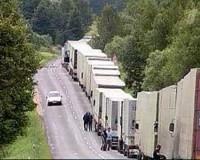 Около 80 польских фур не могут выехать из Смоленской области