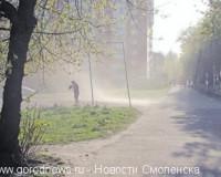 Справится ли Смоленск с песчаными бурями?