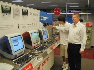 Ассортимент продукции в магазинах электронной техники
