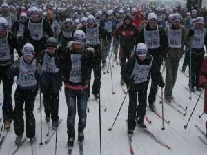 В Смоленске наконец состоялась перенесенная из-за жутких морозов, «Лыжня России»