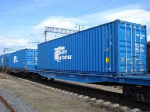 Рост перевозок грузов контейнерными поездами