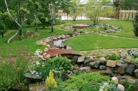 Ручей в саду – атмосфера спокойствия и радости