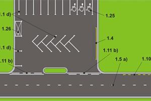 Стандарты разметки автомобильных стоянок