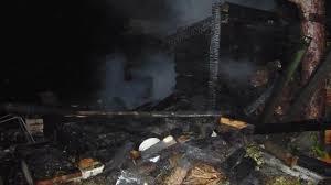 Сенник загорелся вечером в Смоленской области