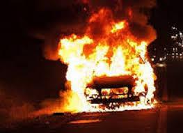 ВАЗ-2107 сгорел в Смоленской области из-за короткого замыкания проводки