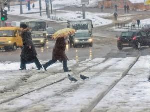 В Смоленск придет снег с дождем