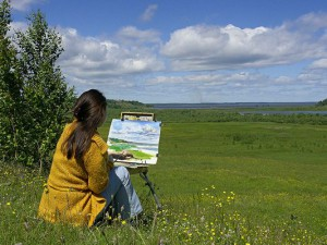 Смоленские художники отчитались о работе на пленэре