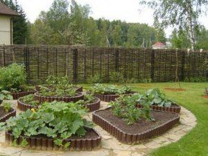 Оформление садовых грядок