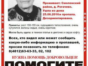 В Смоленске ищут 86-летнюю пенсионерку