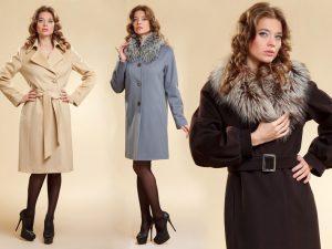 Кашемировое пальто в магазине «Зимний сезон»
