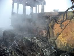 В Смоленской области дотла сгорел бульдозер