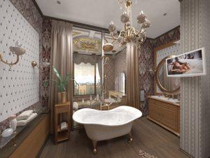 Архаический стиль дизайна ванных комнат
