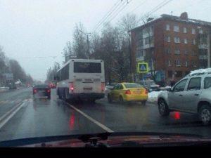 В Смоленске на Николаева автобус сбил пешехода