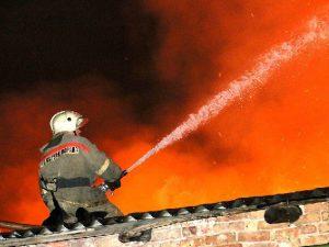 В Смоленской области несколько часов тушили пилораму
