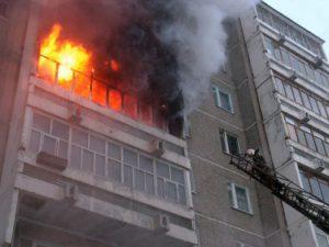 В Смоленске при пожаре пострадал двухлетний ребенок