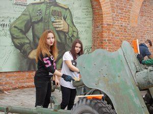 Детский смоленский городской волонтерский корпус высадил десант в музей