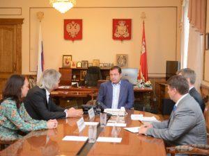 Губернатор встретился с заместителем полпреда в ЦФО Муратом Зязиковым