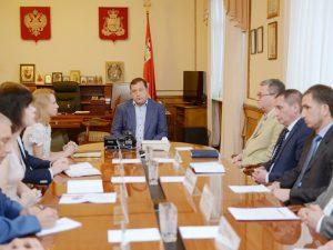 Губернатор провел внеочередное заседание членов Администрации области