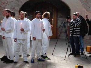 В смоленском храме сняли клип