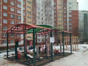 В Смоленске на Попова поставили тренажеры под открытым небом