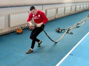 В Смоленске прошли первые спортивные старты юных пожарных