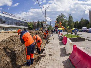 Благоустройство общественных территорий в Смоленске идёт полным ходом