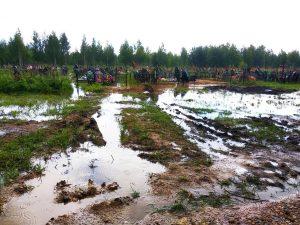 Смоленское кладбище ушло под воду