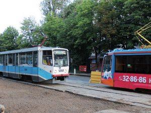 Тройное ДТП парализовало движение трамваев в центре Смоленска