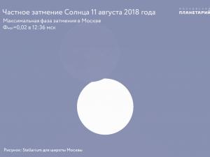 11 августа смоляне смогут наблюдать солнечное затмение