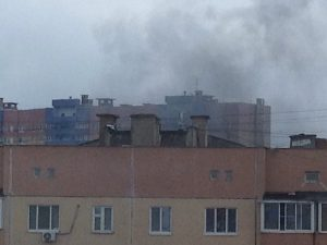 Пожар в Смоленске всполошил жителей Киселёвки