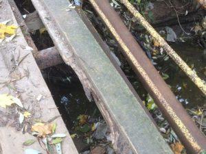 Мост в Заднепровском районе Смоленска разрушается
