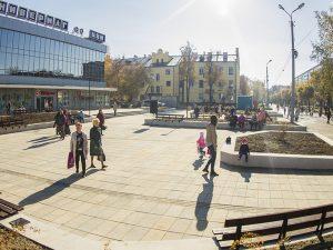 Открытие обновленной общественной территории возле ЦУМа