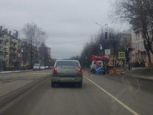 На улице Кутузова в Смоленске установили новый светофор