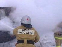В Рославле сгорел жилой дом, есть пострадавший