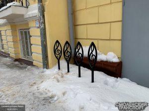 В Смоленске появилась ещё одна школьная велопарковка