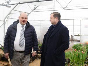 Губернатор посетил тепличный комплекс по выращиванию овощных и цветочных культур